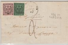 Itallienische Staaten, Modena, 1853, schöne MiF des  5 + 10 Cent Wertes
