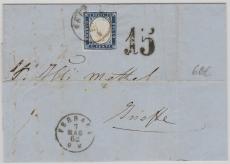 Italienische Staaten, 1862, Sardinien Mi. Nr.: 8 als EF nach Ariette