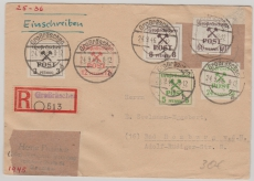 Großräschen, Nr.: 31, 33, 35, 37, 30 + 42 auf E.- Brief
