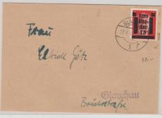 Glauchau Nr. 6 als EF auf Ortsbrief, gepr. Zierer BPP