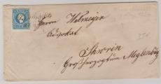 Österreich, 1859, 15 Kr. EF auf Brief von Wien nach Schwerin