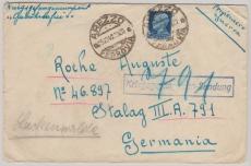 Italien, 1940, 1,25 Lire EF auf Brief von Arezzo an einen Kriegsgefangenen (???) im Stalag III.A.791 (= Luckenwalde)