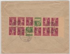 Schweiz, 1927, gute MiF mit HBL- Kerdrucken aus MH- Bogen, rückseitig auf E.- Brief von Luzern nach Berlin