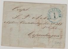 Hamburg / Dänemark, ca. 1850,  Stempel KDOPA Hamburg (Königlich Dänisches Ober Postamt Hamburg) auf Brief