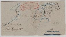 Preussen, ca. 1840, Auslagenbrief von Cosel nach ..., dort nicht angenommen und zurück