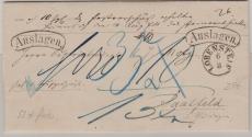 Preussen, ca. 1840, Auslagenbrief von Lobenstein nach Saalfeld