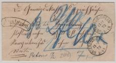 Württemberg (?), 1873, unfrankierter Auslagenbrief von Untereubigheim nach ... und zurück