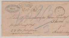 Preussen, 1874, unfrankierter Auslagenbrief von Schlochau nach Baldenburg