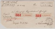 Preussen, ca. 1870, Paketbegleitbrief für 2 Pakete von Liebenwerder nach Naumburg