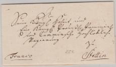 Preussen, ca. 1789, Brief mit 5- Zeiligem Adresse von Cöslin nach Stettin