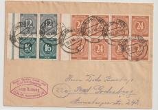 Berlin, Vorläufer, 1948, 10- Fach- Aufbrauchfrankatur mit HBL 124 + S 294 (2x) auf Fernbrief von Berlin nach Bad Godesberg