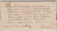 Preussen (?), ca. 1700, Brief mit 7- Zeiliger Adresse nach Dännstedt