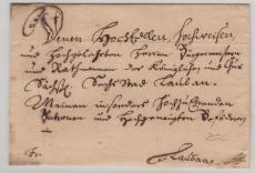 Preussen, ca. 1798, Brief mit 6- Zeiligem Adresse nach Lauban