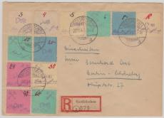 Grossräschen Nr. 1- 12 auf E.- Satzbrief nach Berlin