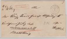 Mecklenburg, ca. 1840, netter E.- Brief von Penkun nach Stettin