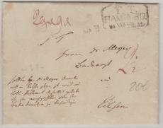 Hamburg, ca. 1800, nette Abstempelung auf Brief nach Eilsen