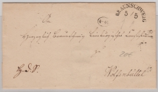 Braunschweig, ca. 1800, schöner Halbkreisstempel auf Brief nach Wolfenbüttel