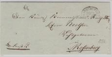 Marienwerder, ca. 1800, interessanter Nierenstempel auf Brief nach Rosenberg