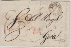 Bayreuth, ca. 1820, intressanter Stempel auf Brief nach Gera
