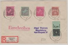 MiF der ersten Ausgabe von Schwerin (Versandstelle für Sammlermarken) nach Magdeburg, per E.-Brief