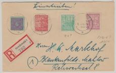 39 za u.a. in MiF auf E. Brief von Greifswald nach Blankenfelde- Mahlow, geprüft Kramp BPP
