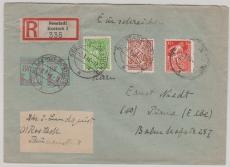 23- 25 b u.a. in MiF auf E.- Brief von Rostock nach Pirna, tiefstgeprüft Kramp