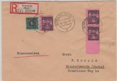 8x + 16 (3x) in MiF auf E.- Brief von Schwerin nach Bischofswerda, tiefstgeprüft Kramp