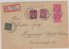 11xa u.a. auf MiF E.- Brief von Schwerin nach Wiegersdorf- Lefeld, tiefgeprüft Kramp BPP