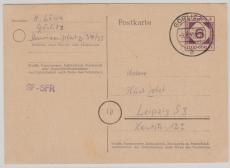 Görlitz, 6 Pfg. Ganzsache, verwendet nach Leipzig mit Text rs.