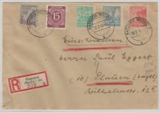 39 ya u.a. in MiF auf E. Brief von Hagenow nach Plauen, geprüft Kramp BPP
