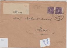 9c MeF auf Ortsbrief innerhalb Schwerin