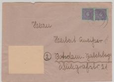 10 x MeF, auf Brief von Gnoien nach Potsdam, tiefgeprüft Kramp BPP