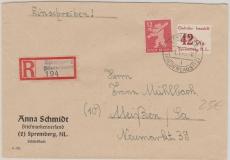 Spremberg Nr. 13 in MiF auf E.- Brief
