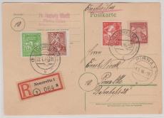 23- 25 b u.a. in MiF auf E.- Karte von Neustrelitz nach Pirna, tiefstgeprüft Kramp