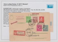 23- 25 b u.a. in MiF auf E.- Karte von Güstrow nach Pirna, Befund Kramp