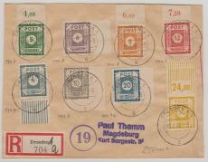 53 -60, zusammen auf Satz- E.- Brief von Dresden nach Magdeburg