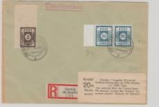 48 DIc (2x) u.a, auf E.- Brief von Coswig nach Dresden, doppelt tiefstgeprüft, Zierer / Ströh BPP
