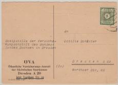 52 EF auf Ortspostkarte innerhalb Dresdens, tiefstgeprüft Zierer / Ströh BPP