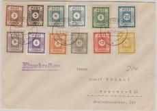 51- 60, zusammen auf Satzbrief innerhalb Dresdens