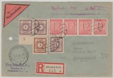 58 (3x) u.a. auf NN- E. Fernbrief von Dresden nach Detschenbora