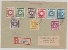 42- 50 DI, auf komplettem E.- Satzbrief von Coswig nach Dresden, gepr. Kunz BPP