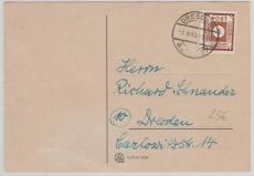 42A als EF auf Orts- Postkarte innerhalb Dresdens