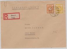 55 + 59 als MiF auf Orts- E.- Brief innerhalb Riesas, nette Portostufe!!!