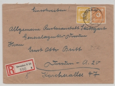 55 + 59 als MiF auf Orts- E.- Brief innerhalb Dresdens, nette Portostufe!!!