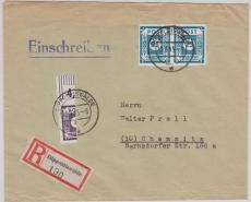49A (2x) + 44A (halbiert) als scheinbar portogerechte Frankatur auf Fern- E.- Brief von Dippoldiswalde nach Chemnitz