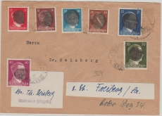 AP 788 u.a. auf Brief von Wiesenbad nach Freiberg