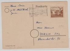 115, als EF auf Postkarte von Jena nach Berlin, Marke rs. geprüft Ströh BPP