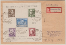 Block 3 A, als EF auf E.- Ortsbrief innerhalb Waltershausens