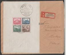 DR, 1930, Block 1 als EF auf Auslandseinschreiben von Berlin nach Rotterdam (NL)