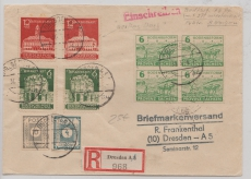 64 + 65 (je 2x) u.a. auf Orts- E. Brief innerhalb Dresdens